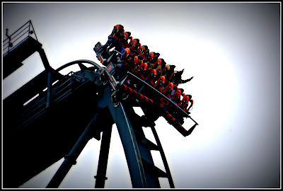 roller coaster, Oblivion, Alton Towers