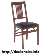 True Mission Stakmore Wood Folding Chairs with vinyl seat