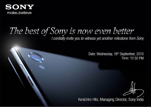 Sony Sep 18th launch invite