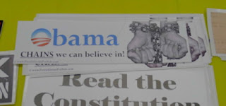"CPAC 2011 Had ""Obama Hands In Chains"" Bumper Sticker For Sale"
