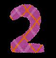 数字 2 イラスト文字