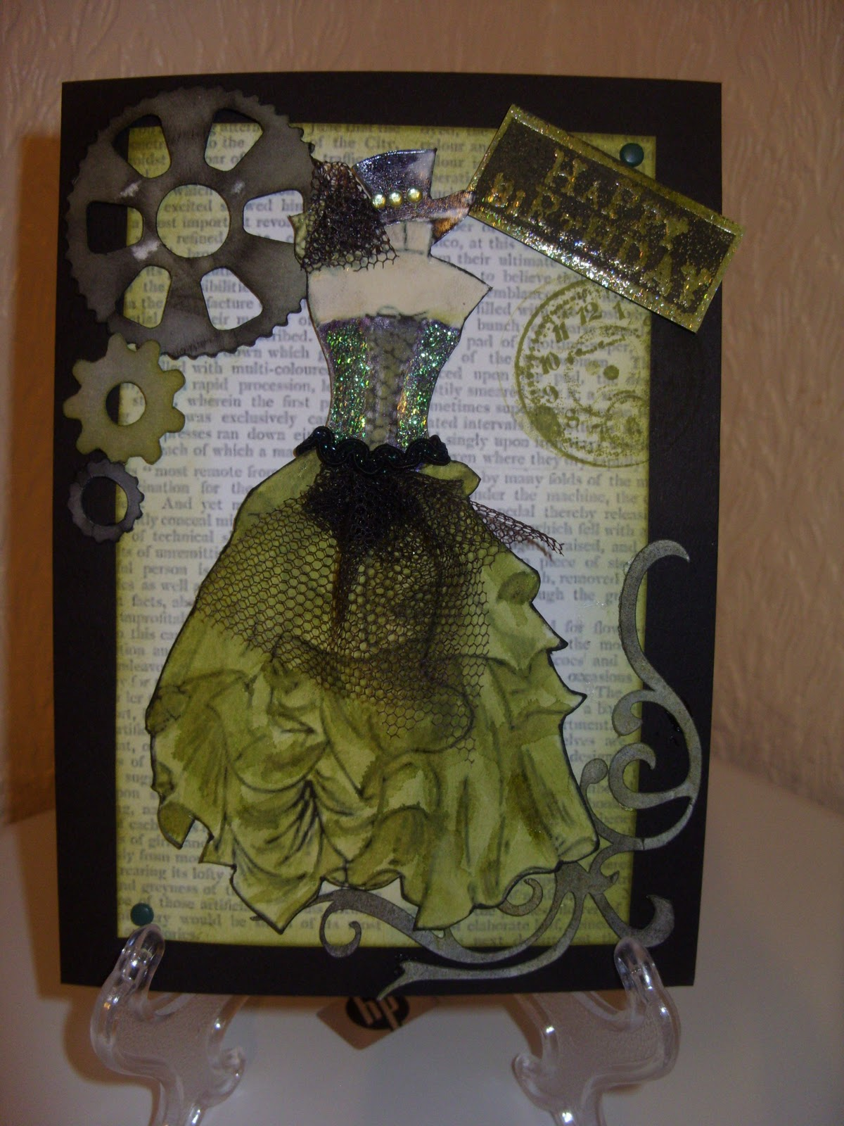Arts and crafts and family life steampunk cards for Steampunk arts and crafts