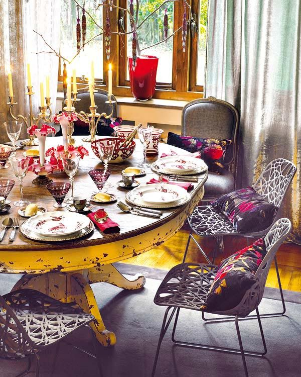 bad blog about design holiday decorating the dining table