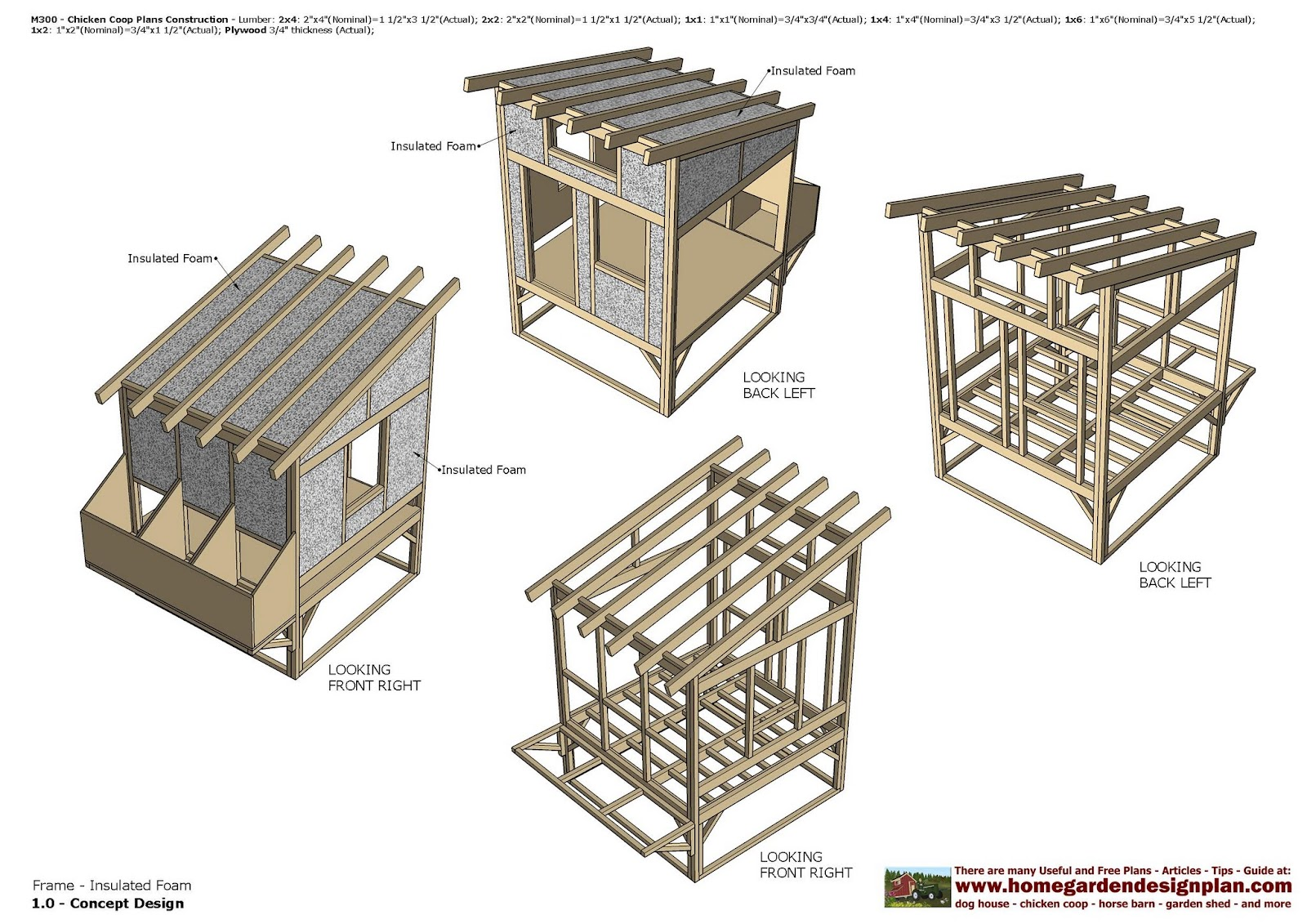 Home garden plans m300 chicken coop plans construction for Plans for a chicken coop for 12 chickens