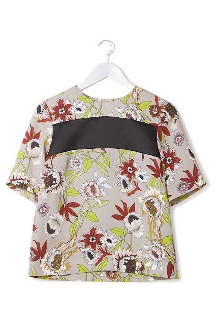 topshop boutique floral top, topshop hatty top,