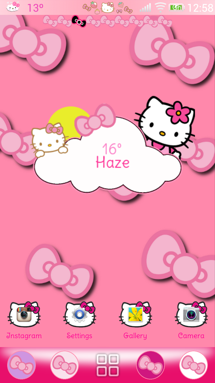 Pretty Droid Themes: Hello Kitty Theme (v1) for Go Launcher!