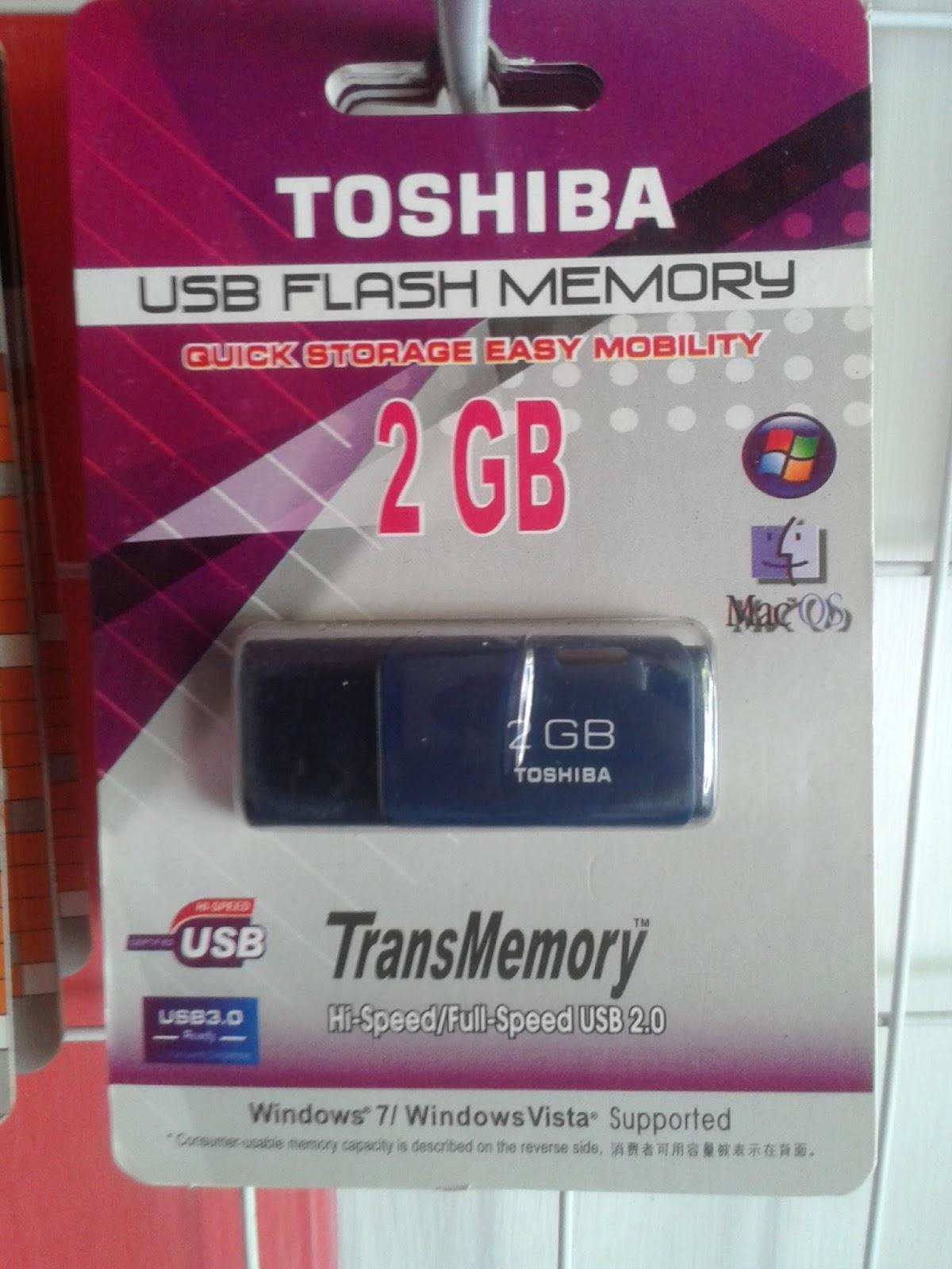Flashdisk Flash Disk Toshiba 2 Gb Oc Harga 38000