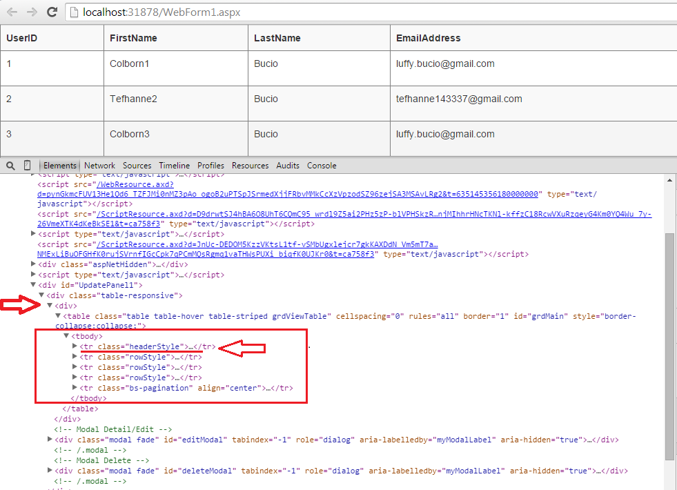 Asp net gridview forms on bootstrap fix asp net gridview for Table thead tbody