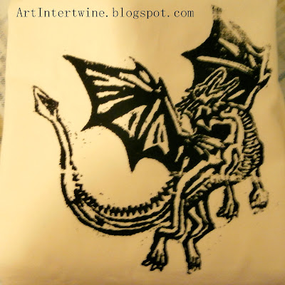 Art Intertwine - Silkscreen Dragon