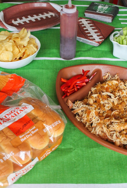 Slow Cooker Hawaiian Pulled Chicken Sandwiches | The Chef Next Door #KHGameTime