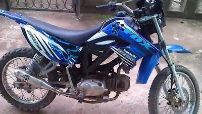 foto modifikasi motor bebek jadi trail