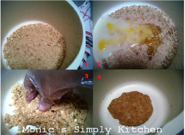 Tahap awal pembuatan adonan biscuit truffle