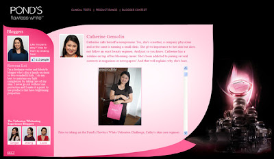 Pond's Flawless White microsite