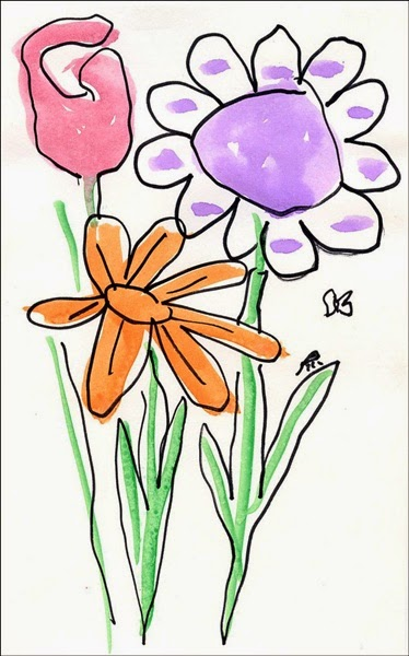 Flowers Drawings For Kids