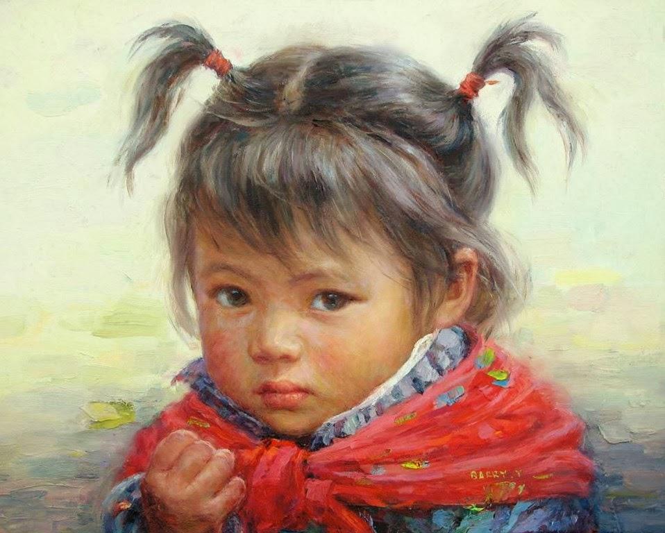 Los niños de fabiola Rostro-de-ni%C3%B1a-pintado-al-oleo