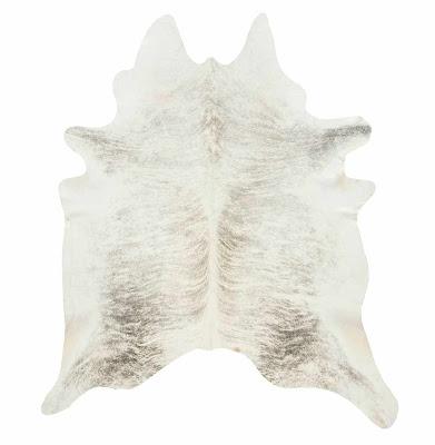 grey cowhide rug