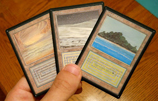 Inked Unlimited Dual lands Underground Sea Tropical Island Tundra Magic the gathering altered Dual lands black border Alpha Beta