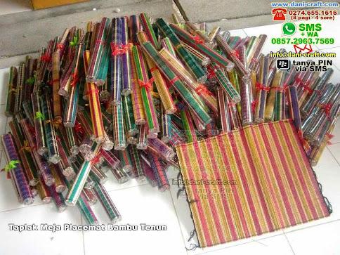Taplak Meja Placemat Bambu Tenun Bambu Lidi Madiun