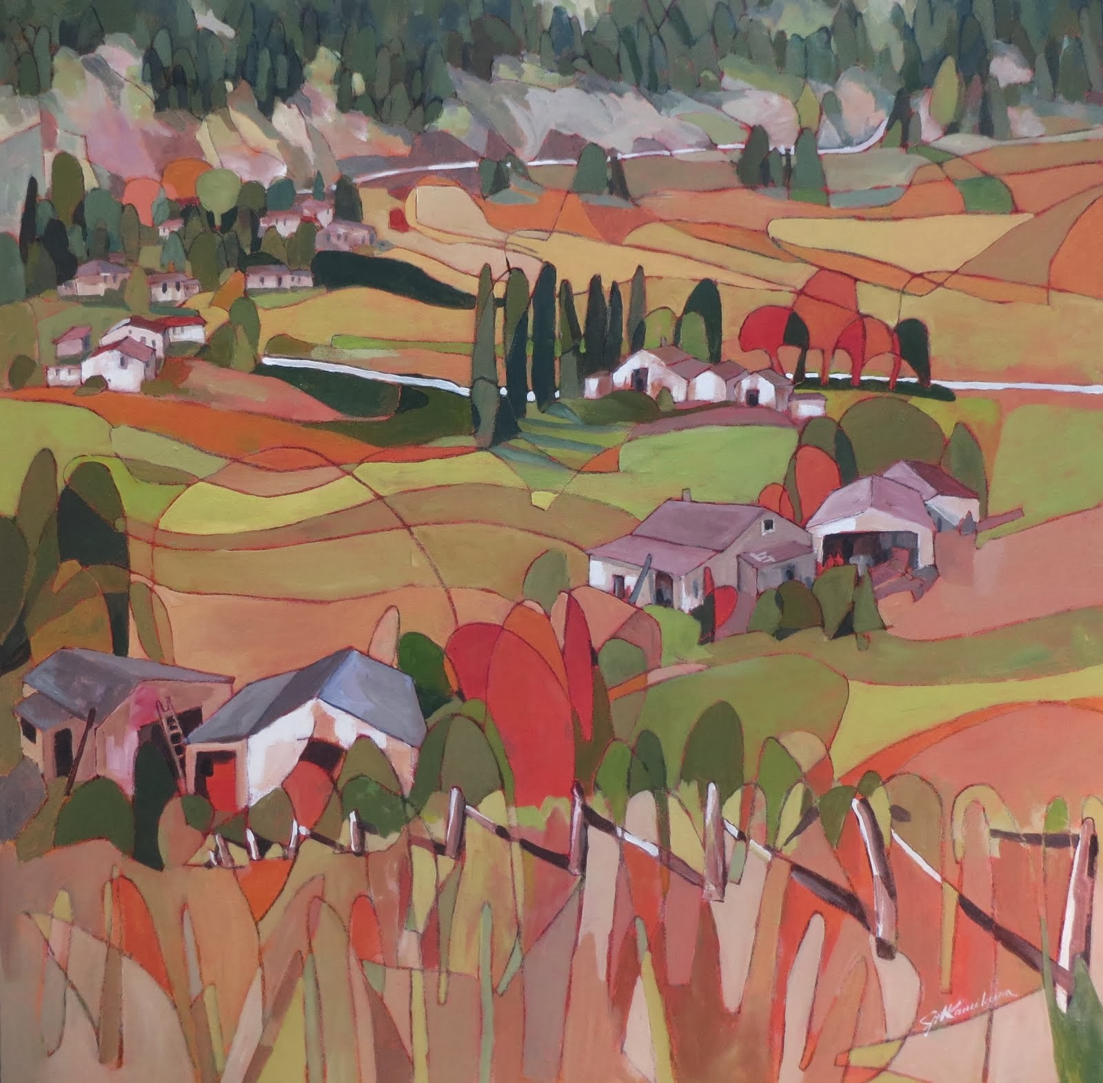 Kettle Valley 36x36""