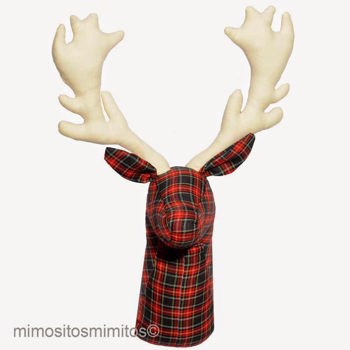 cabeza reno navidad decoracion interior design softhead Rudolph