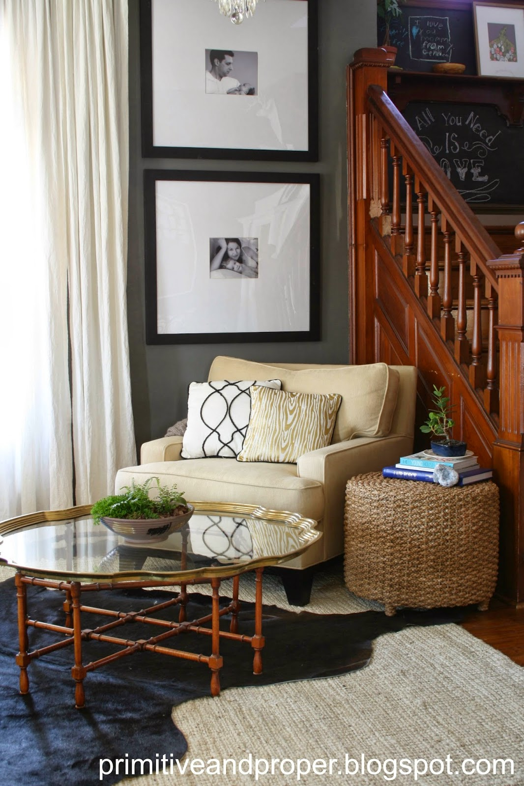 Chic Gray And Gold Living Room Cassie Bustamante