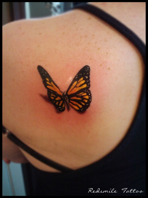3d gun image 3d butterfly tattoos. Black Bedroom Furniture Sets. Home Design Ideas