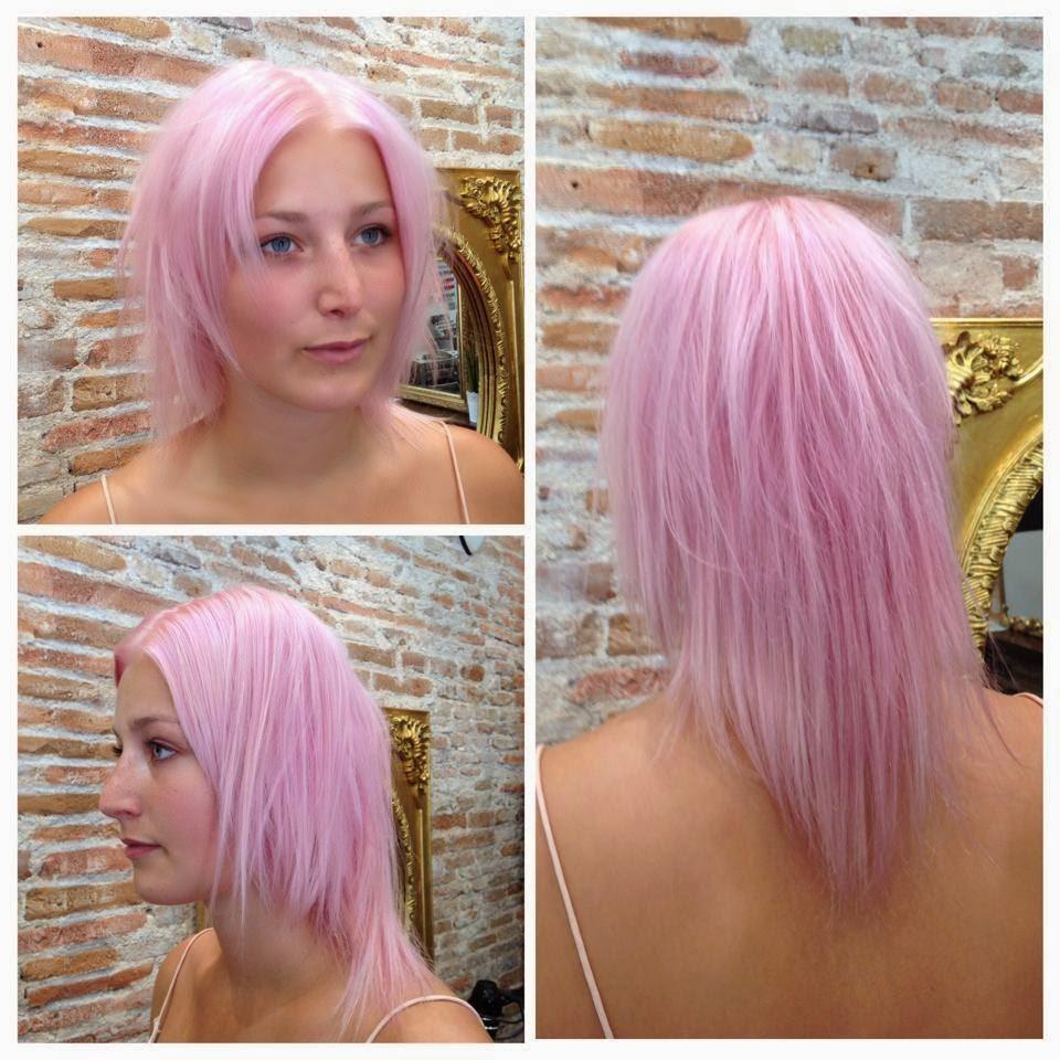 Pelo color rosa pastel