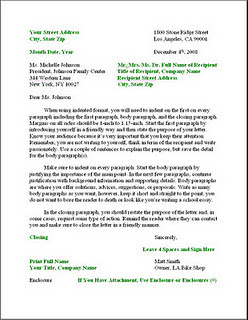 Business of english Letter ( Bagian 1)