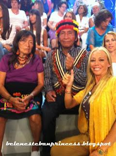 salvame belen esteban con indios tribu