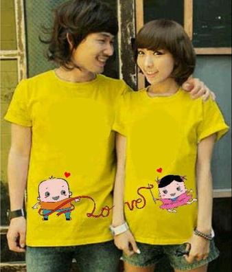 Jual Kaos Tali Cinta Couple Online Murah di Jakarta Lengan Pendek Trendy
