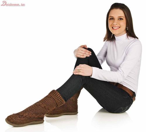 Tejidos Kangél: curso de botas y zapatos tejidos en ganchillo y ...