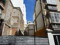 Málaga, solar resultado de demolición de edificio histórico en calle Plaza del Teatro 5