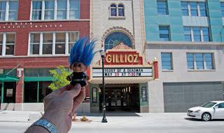 Route 66 Troll at the Gillioz Theatre in Springfield Missouri