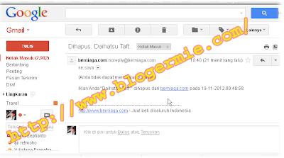 Email konfirmasi iklan sudah dihapus