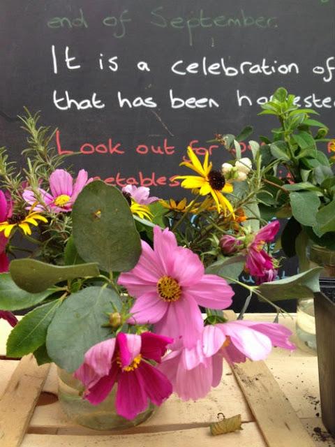 display of flowers