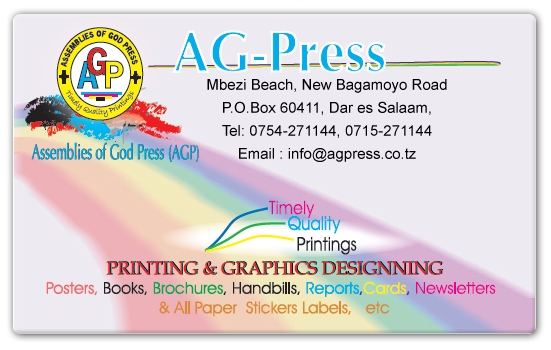 AG  PRESS MBEZI BEACH