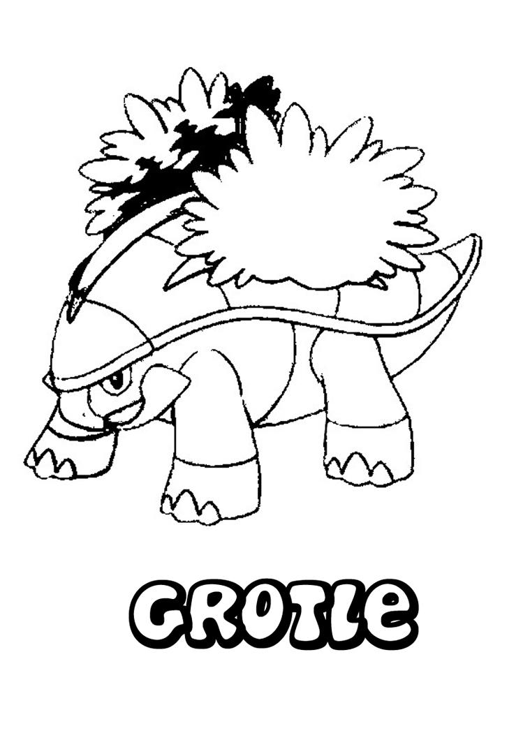 Coloriages a Imprimer : Coloriage Pokemon Crotle