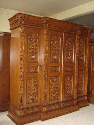 lemari jati jepara,furniture mebel jati klasik,furniture classic jepara,code classic furniture A204