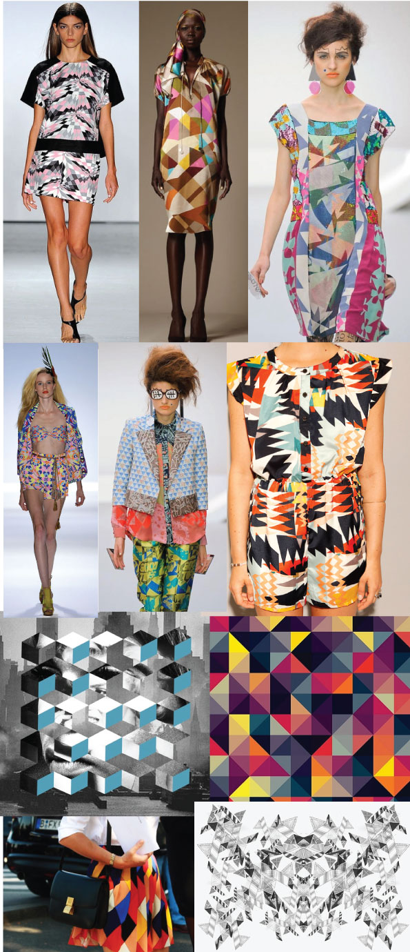 geometric fashion prints ss13