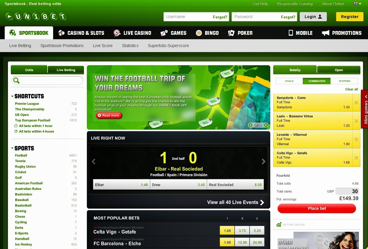 Unibet Sportsbook