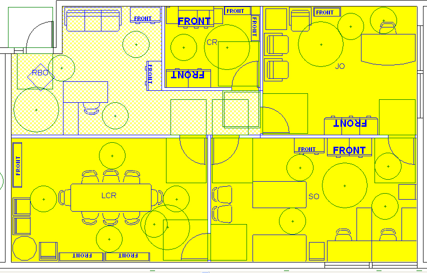 Architect registration exams study and notes for Schematic design interior layout vignette