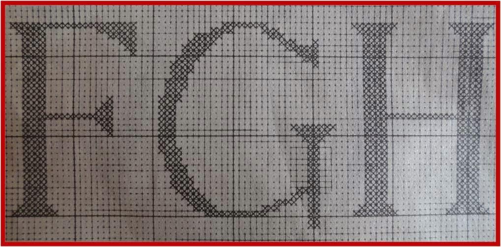 Fashion y f cil letras punto de red a ganchillo y punto - Como hacer punto de lana para principiantes ...