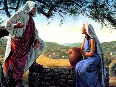The story of the Samaritan woman at the well.