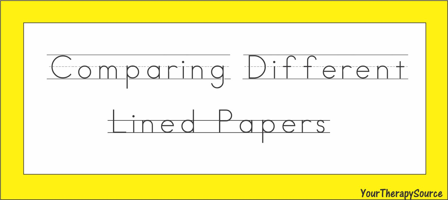 Four lined paper for handwriting
