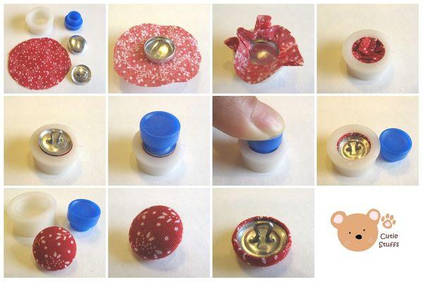 Kira fieltro forrar botones - Botones para forrar ...