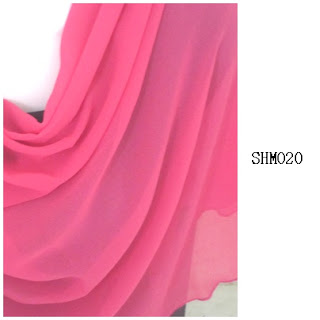 shawl halfmoon plain pink cair