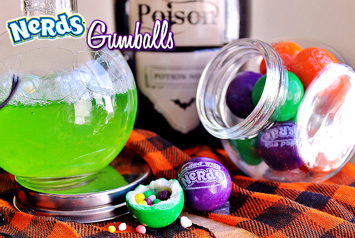 Nerd's Gumballs from #SweetworksFall Witch's Brew Candy Mix. #ad