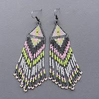 mative american seed bead earrings beaded jewelry beadwork traditional