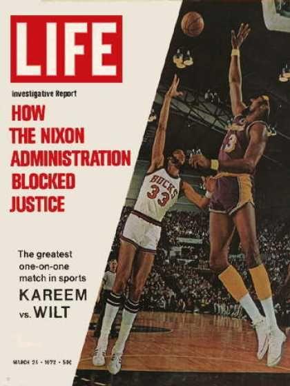 Wilt chamberlain vs kareem abdul jabbar old school magazine cover