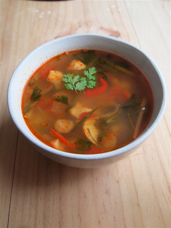 how to cook tom yum chicken soup